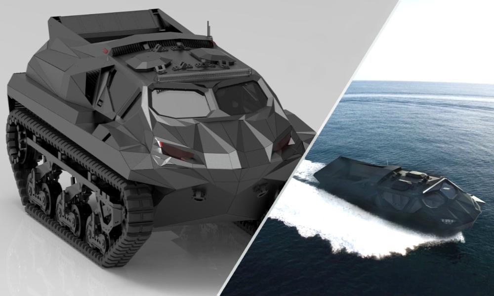 100% waterproof, ce tank ukrainien peut se transformer en bateau