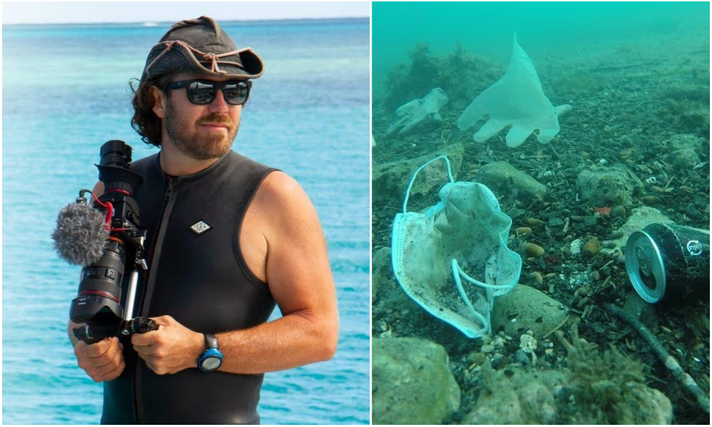 Il passe 24 heures sous l'eau pour alerter sur la pollution des océans