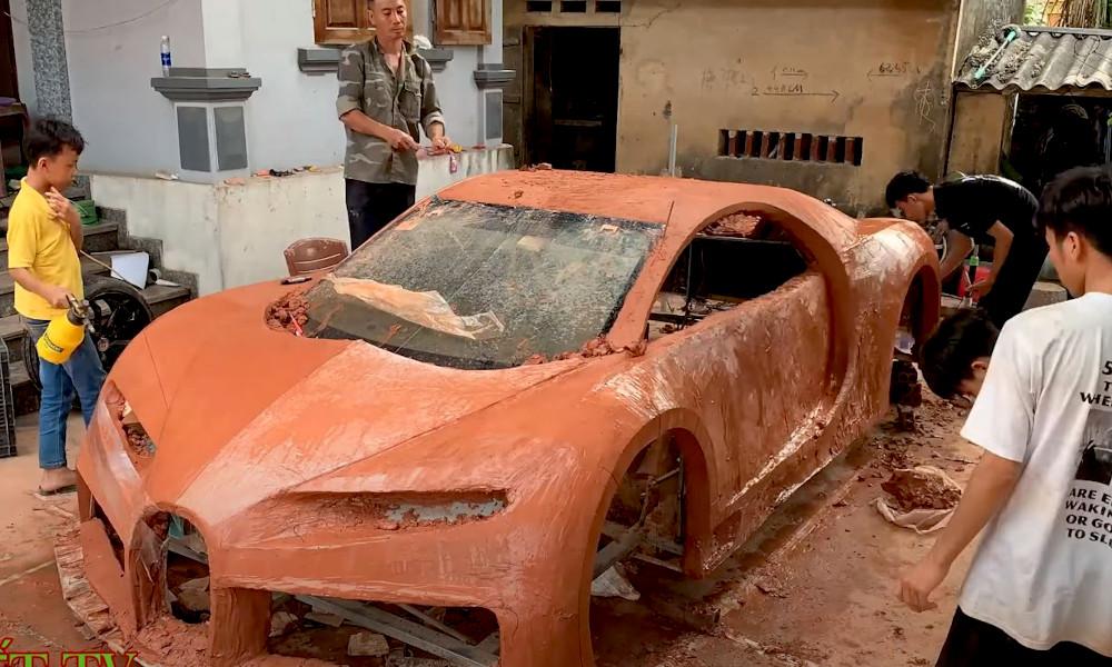 Pour économiser 2 millions d'euros, ils construisent une Bugatti Chiron... en argile