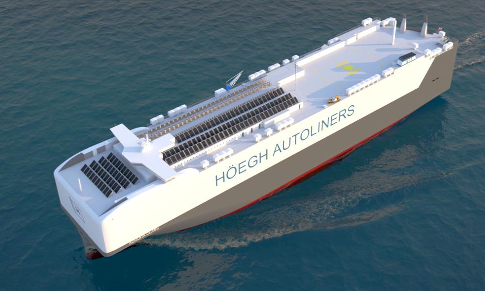 Ce cargo carbure au gaz naturel et peut transporter plus de 9000 voitures