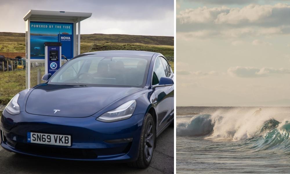 En Ecosse, les voitures électriques se rechargent grâce à l'énergie des vagues