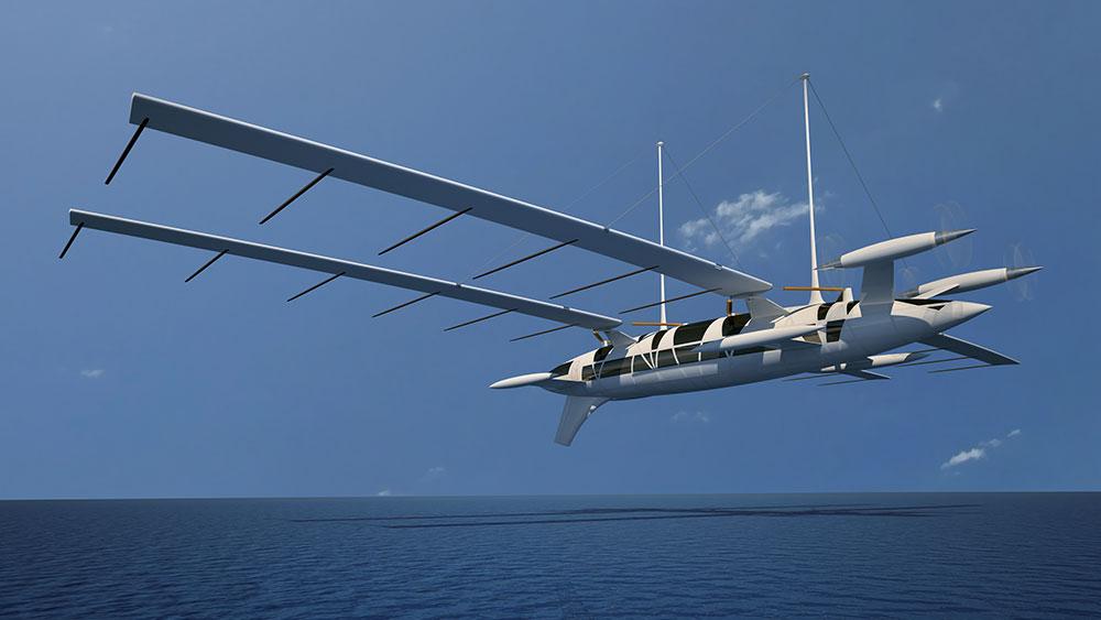 Ce super yacht peut se transformer en avion filant à 400 km/h