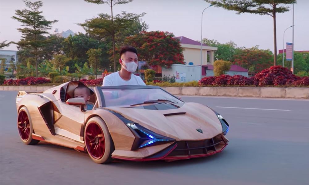 Ce fou furieux construit une Lamborghini électrique en BOIS, puis l'offre à son fils ! (vidéo) Par Robin Ecoeur Gon