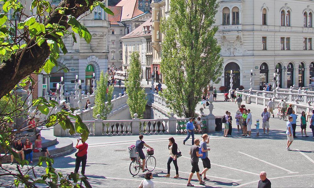 Ljubljana, la ville sans-voiture aussi calme qu'une forêt