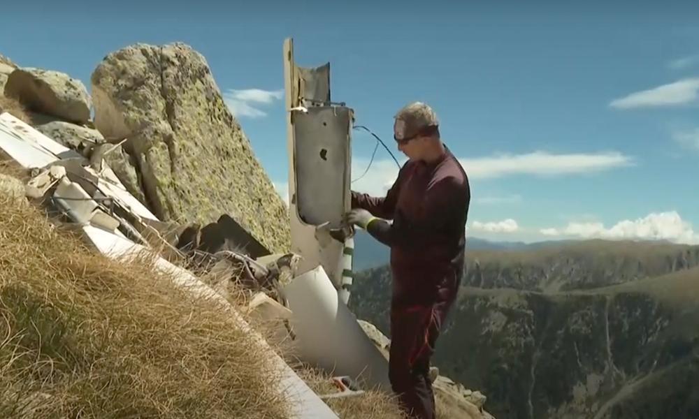 Cet homme a fait un rêve : grimper en haut des Pyrénées pour ramasser 2 tonnes de déchets