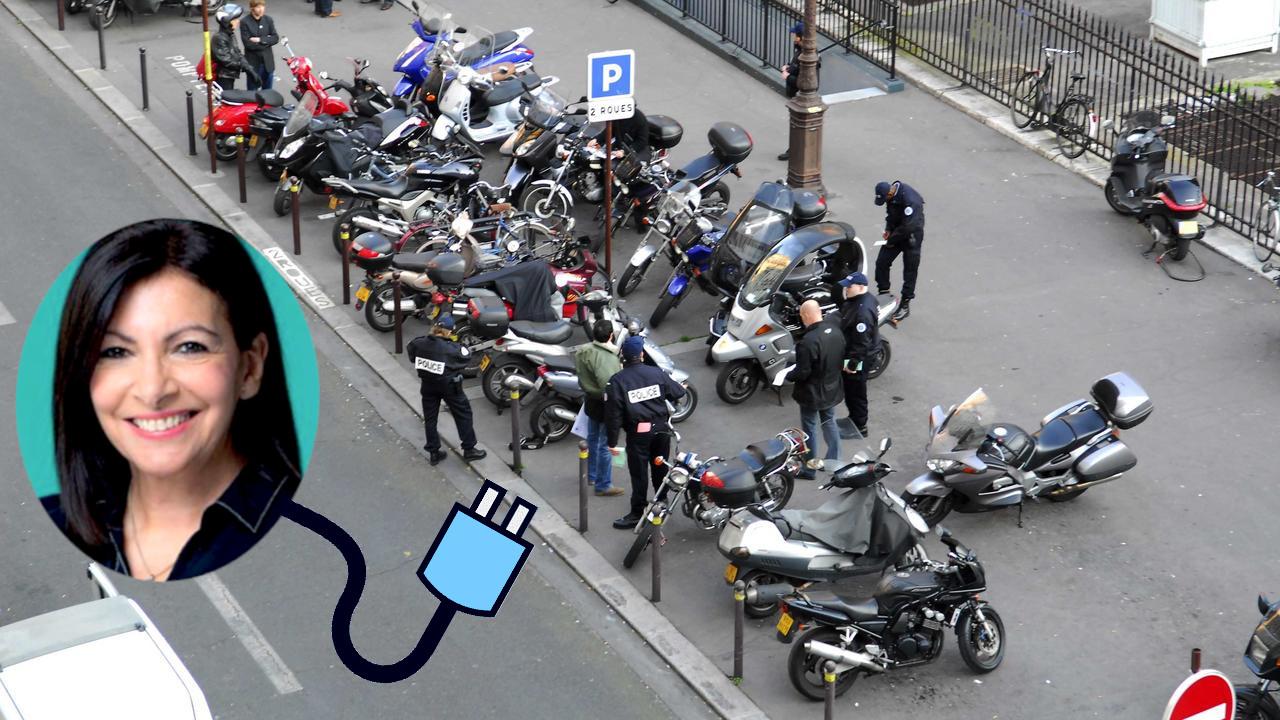 À Paris, le stationnement sera payant pour les deux-roues (sauf pour les scooters électriques)