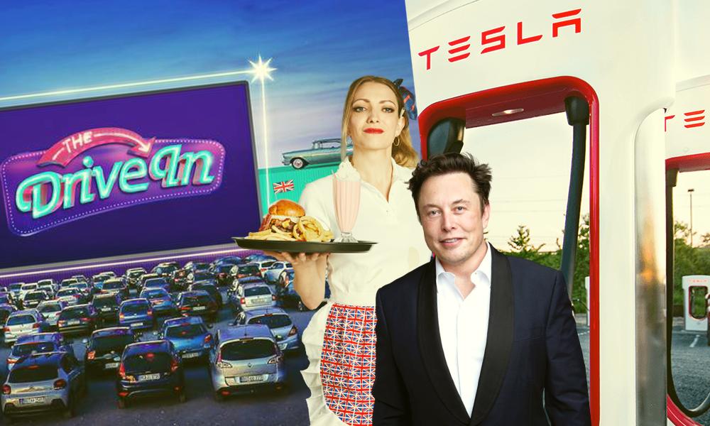 """Officiel : Elon Musk veut ouvrir des """"restos Tesla"""" réservés aux voitures électriques"""