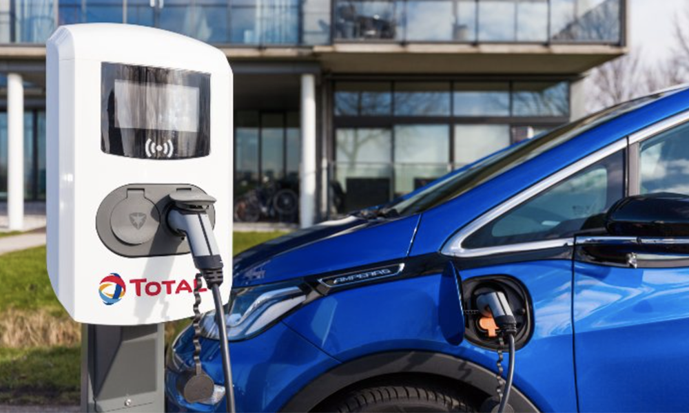 Les temps changent : Total vient d'ouvrir sa première station 100% électrique