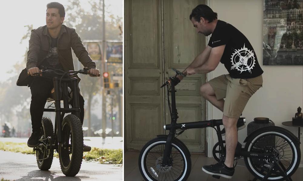 Cette bicyclette électrique se transforme en vélo d'appartement