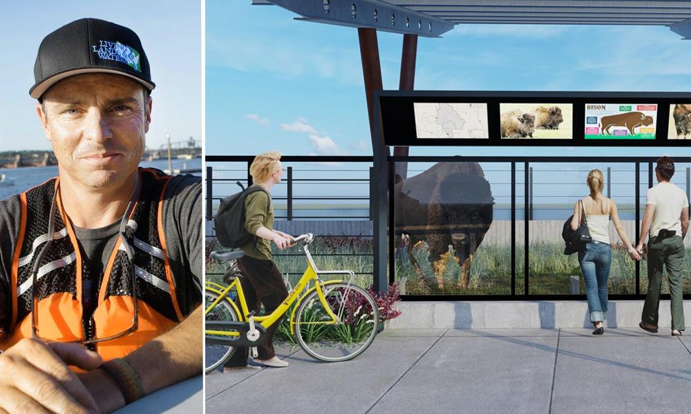 Cet Américain se bat pour transformer un pont en réserve naturelle pour bisons