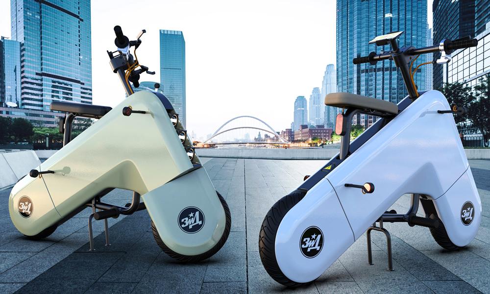 Ce scooter électrique révolutionne le design avec sa forme boomerang