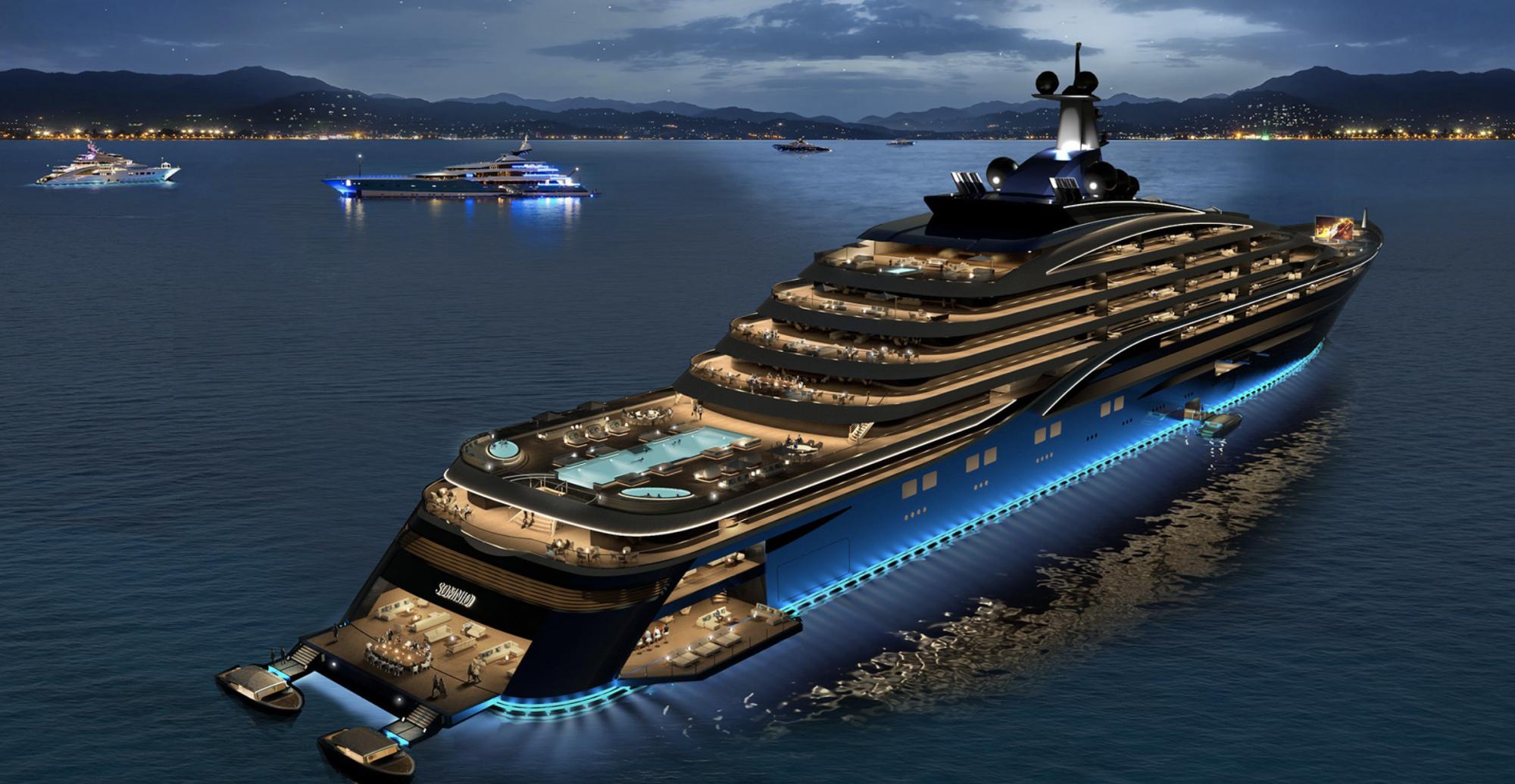 Pour 9 millions d'euros, achetez-vous un appartement sur le plus grand yacht du monde