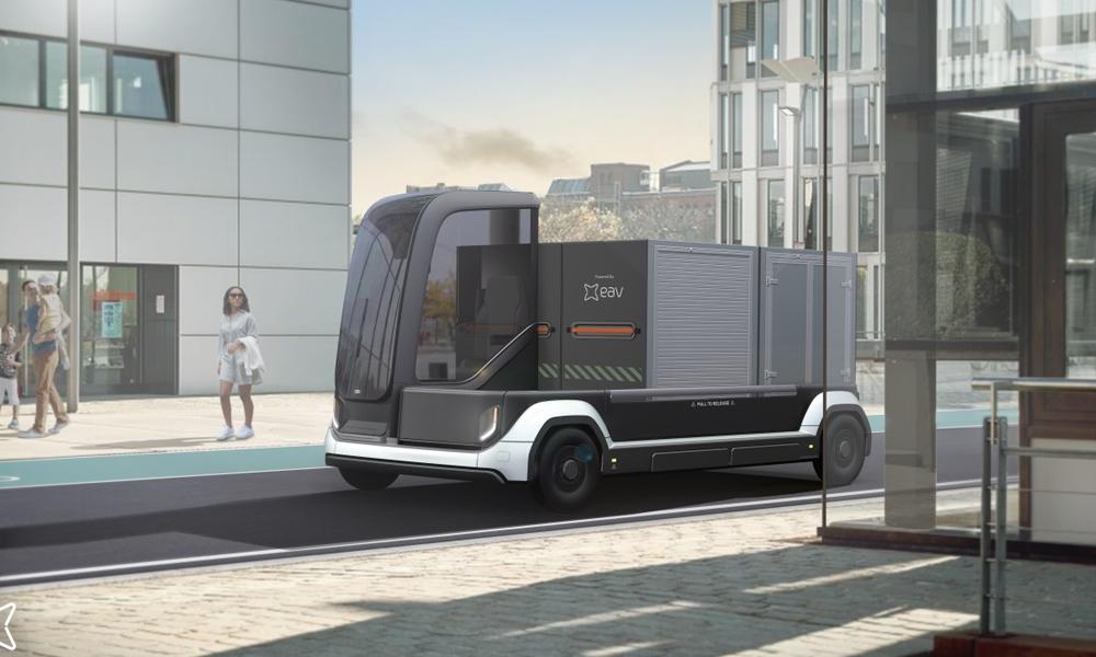 Ces camions de livraison électriques peuvent s'assembler entre eux comme des LEGO