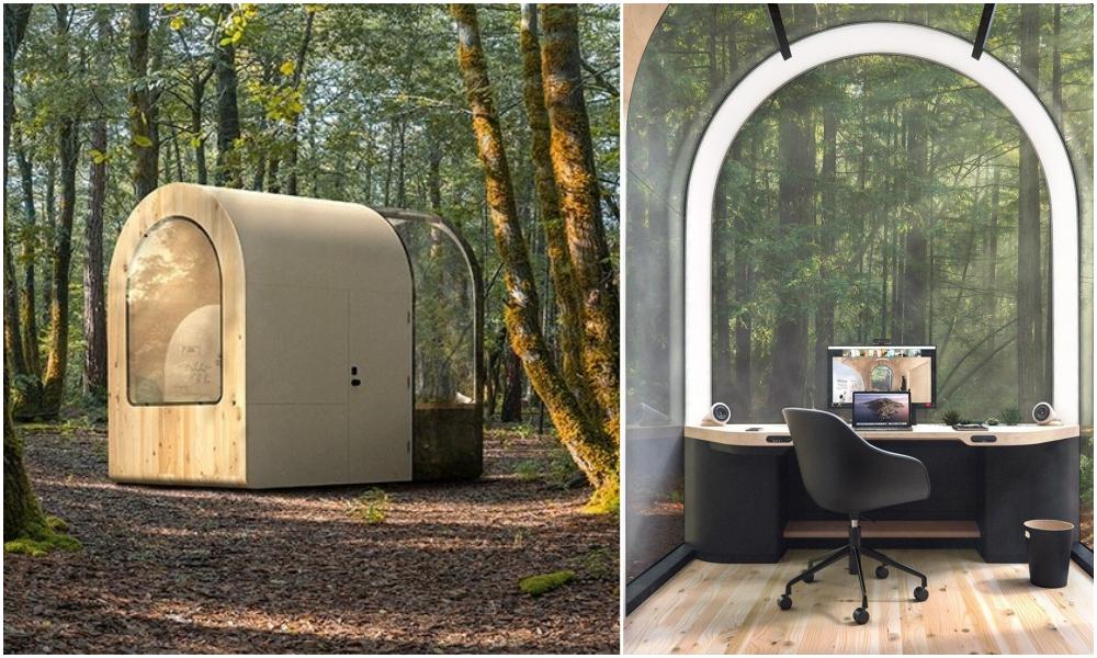 Voici votre nouveau bureau : une cabine de 9m2 pour télétravailler n'importe où