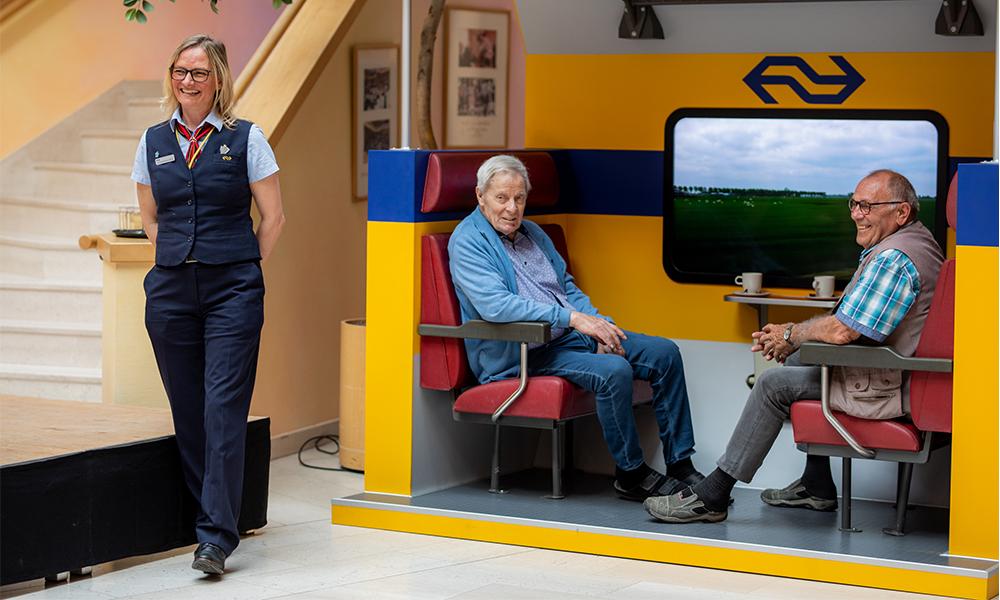 Ce faux wagon de train aide les malades d'Alzheimer à voyager dans le temps