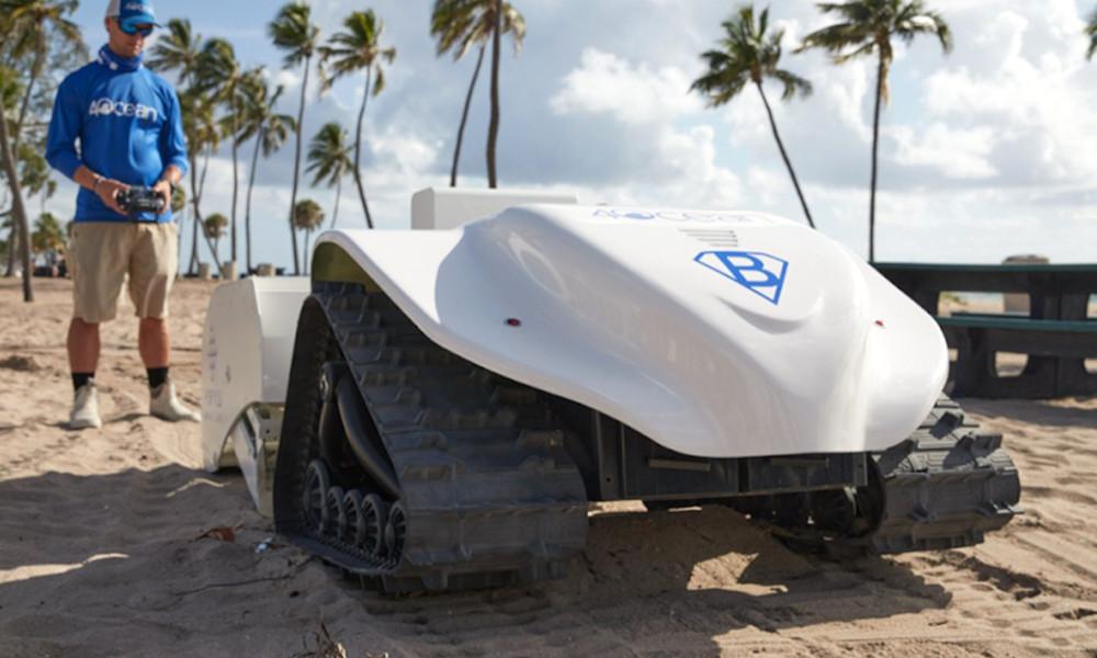 Voici BeBot, le robot de plage qui élimine les déchets en plastique