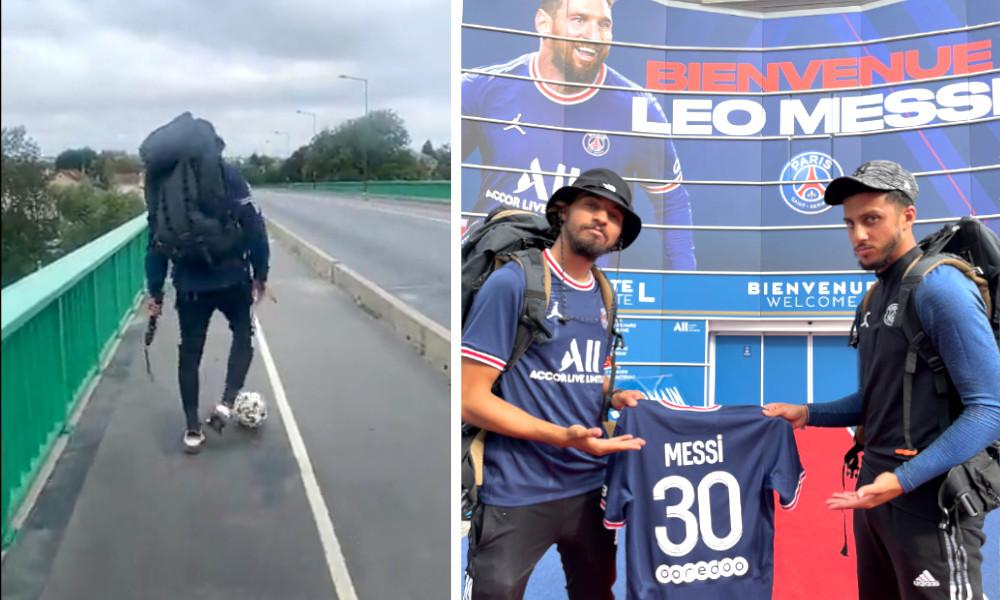 Ballon au pied, ce fan du PSG marche de Marseille à Paris pour rencontrer Messi