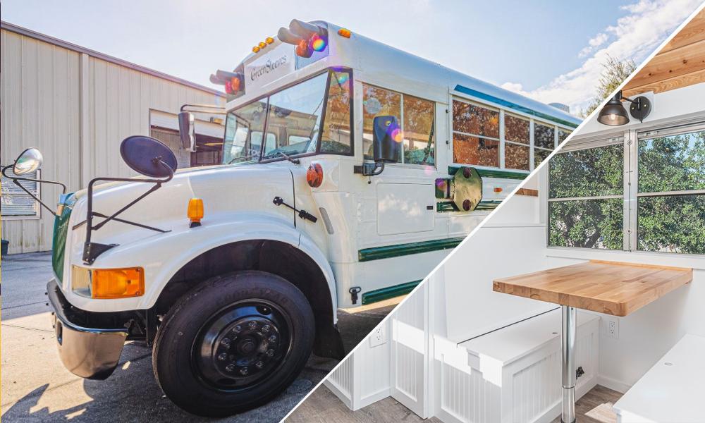 Ils transforment un ancien bus scolaire en maison roulante ultra classe