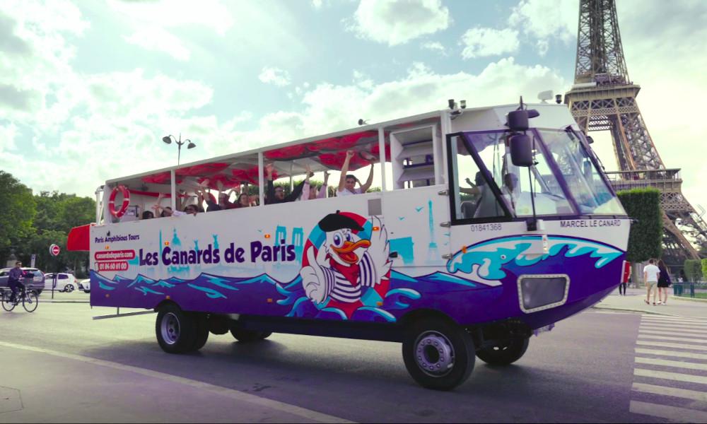 Connaissez-vous Marcel le canard, le seul bus amphibie de Paris ?