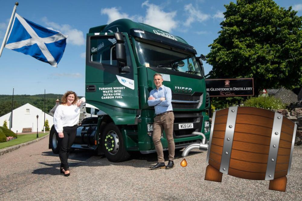 En Écosse, les poids-lourds aussi carburent au whisky