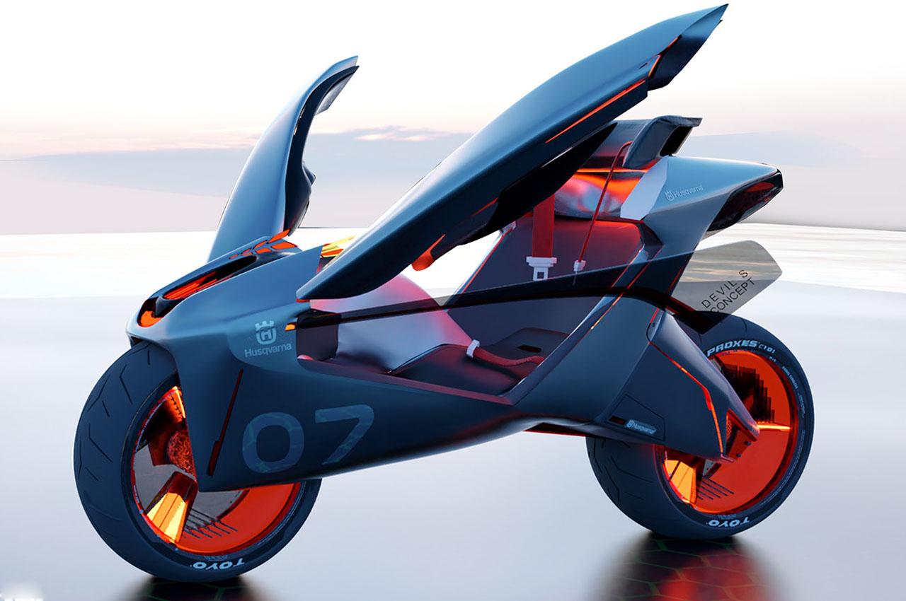Ceintures, portières… la moto du futur, c'est cette voiture à deux roues