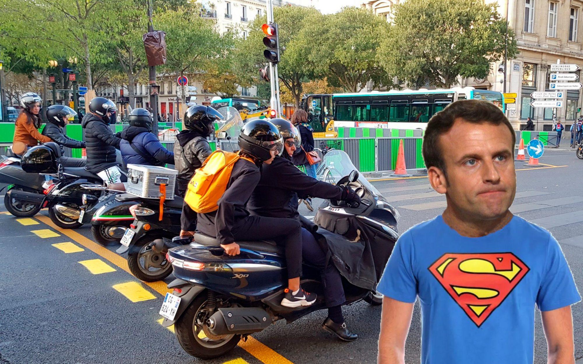 Marche arrière: Macron annule le contrôle technique obligatoire pour les scooters et motos