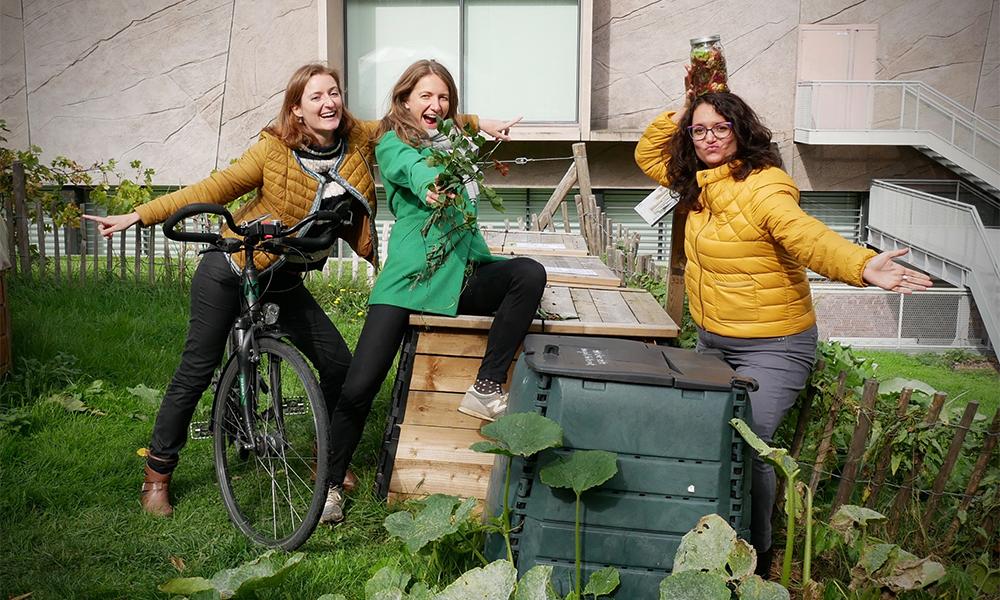Ces Rennaises pédalent pour transformer les déchets en compost