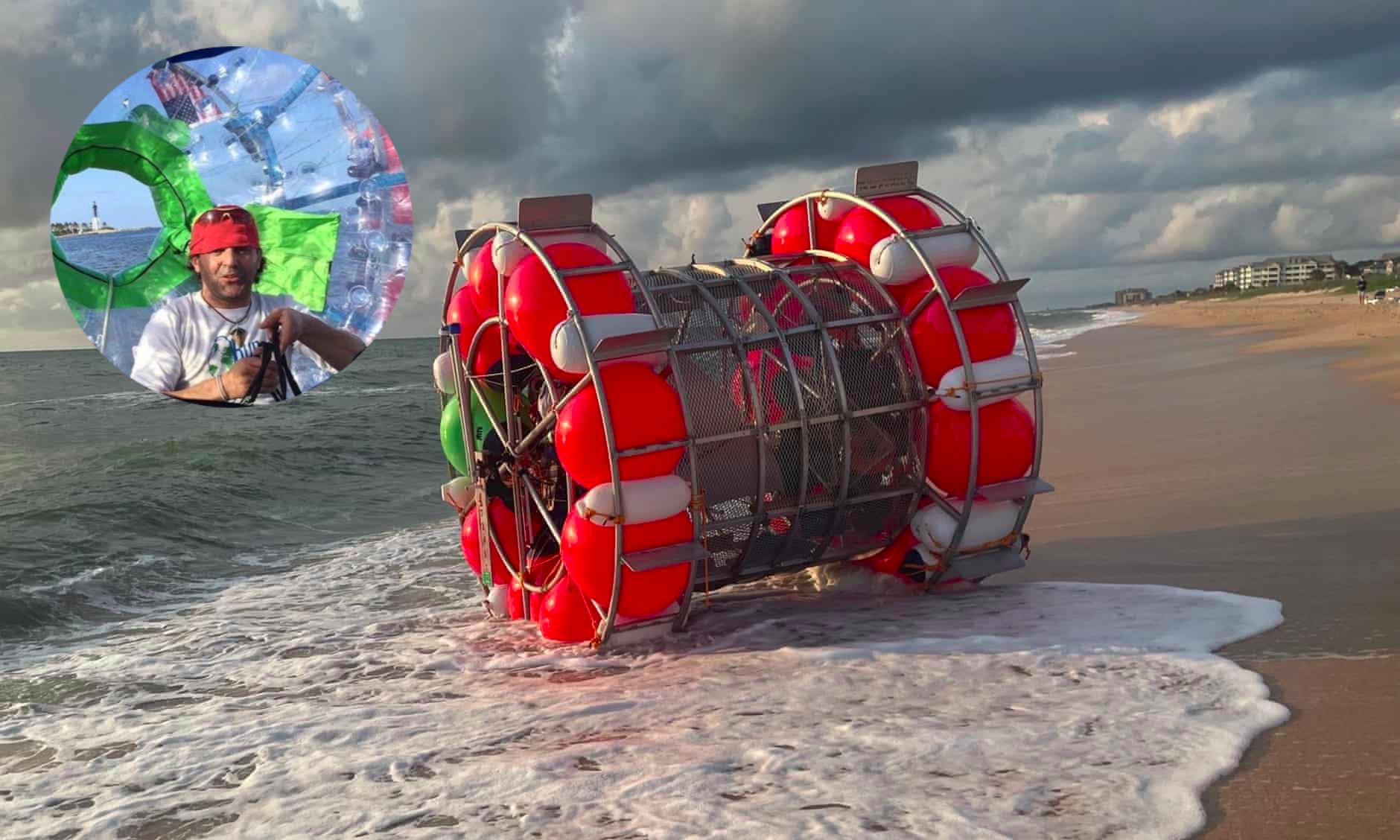 Il construit une roue flottante pour courir 1600 kilomètres… sur l'eau