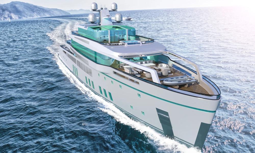 Ce yacht hybride contient 5 piscines et… un bar à sushi