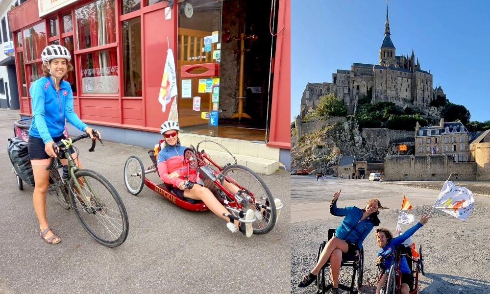 Contre le handicap, deux sœurs font 320 km à vélo pour atteindre le Mont Saint-Michel
