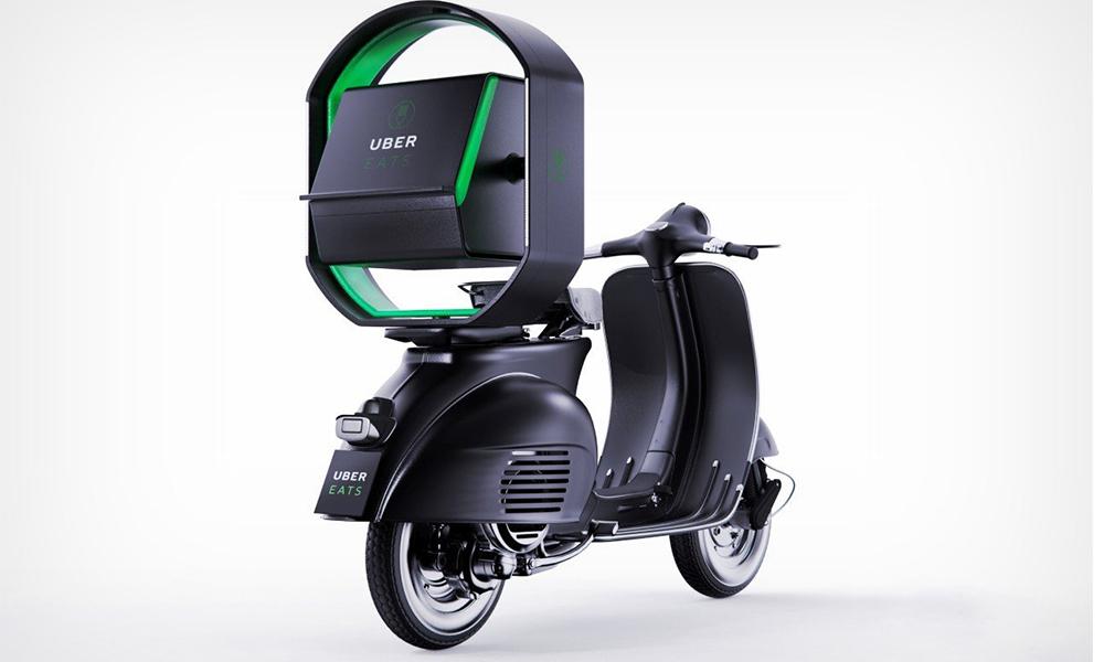 Avec ce scooter Uber Eats, les repas pourraient enfin être livrés sans accidents