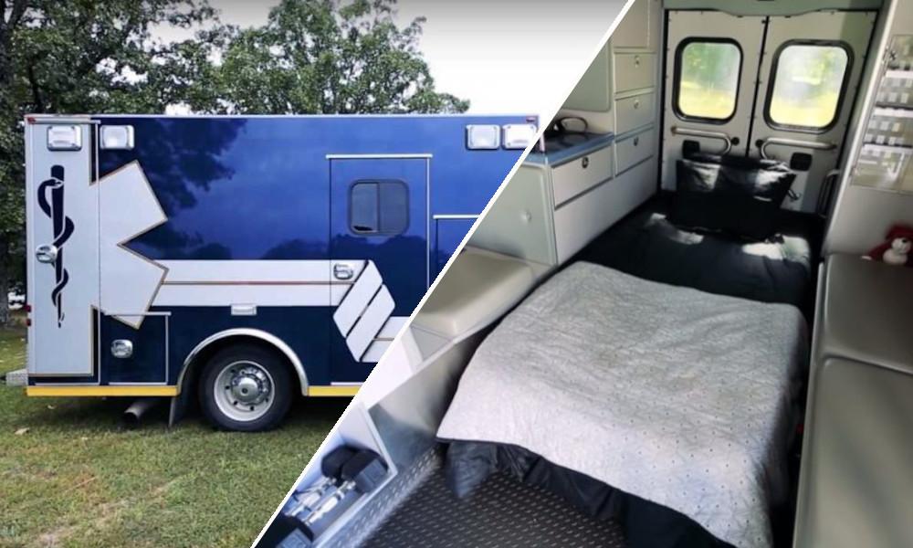 Pourquoi acheter un camping-car quand on peut dormir dans… une ambulance ?