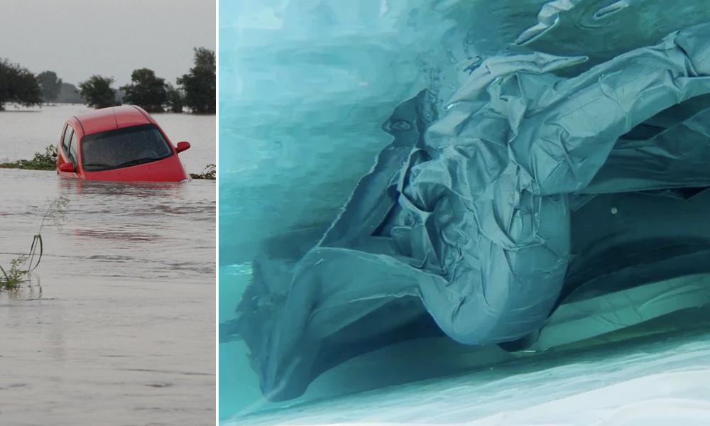 En cas d'inondation, cette bâche waterproof protège votre voiture comme un airbag XXL