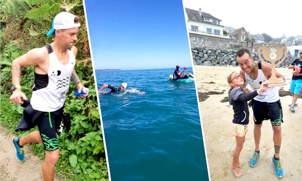 Ce Breton a couru et nagé pendant 11 heures pour soutenir les bébés paralysés