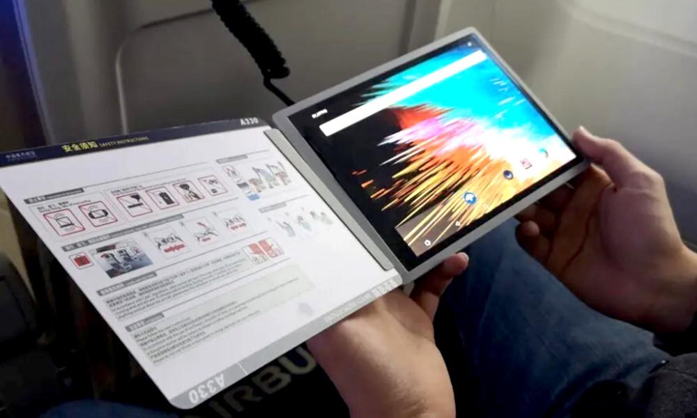 Bye-bye tablettes : ces écrans souples seront bientôt disponibles dans les avions
