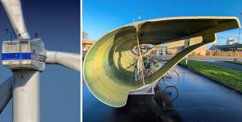 Au Danemark, on transforme les vieilles éoliennes en garages à vélo