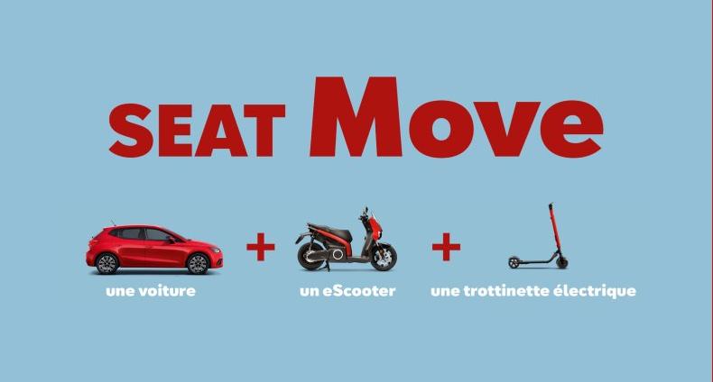 SEAT lance une offre mobilité incluant une voiture, un scooter et une trottinette électrique