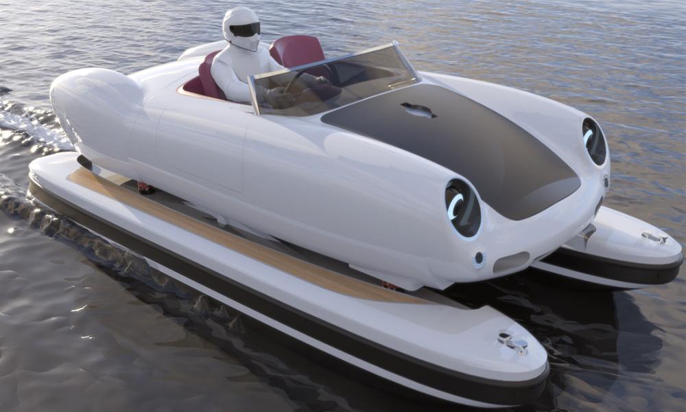 Floating Motors, l'entreprise qui transforme les voitures de légende en bateau
