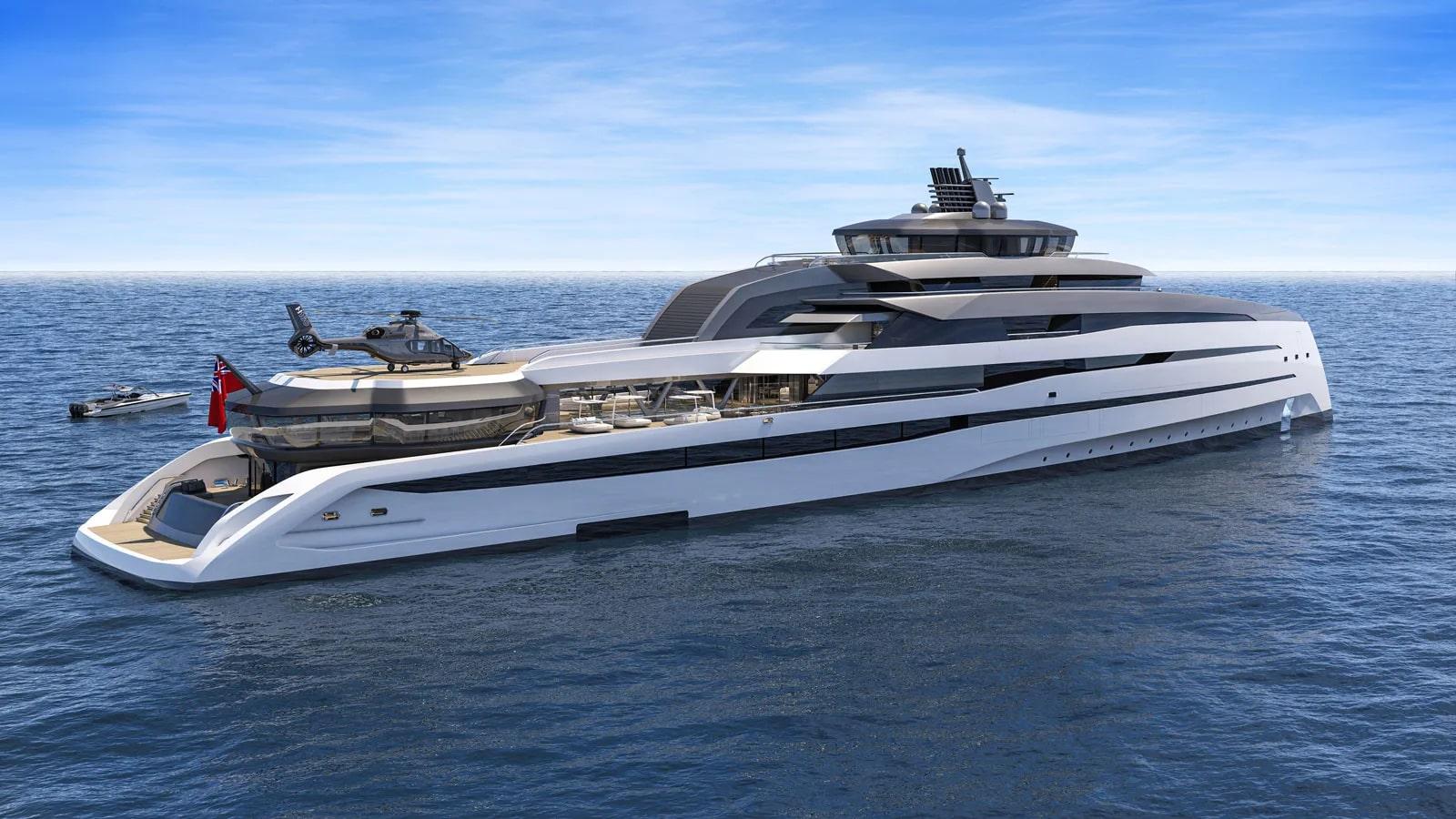Le roi des mers c'est Rex, un superyacht hybride de 127 mètres