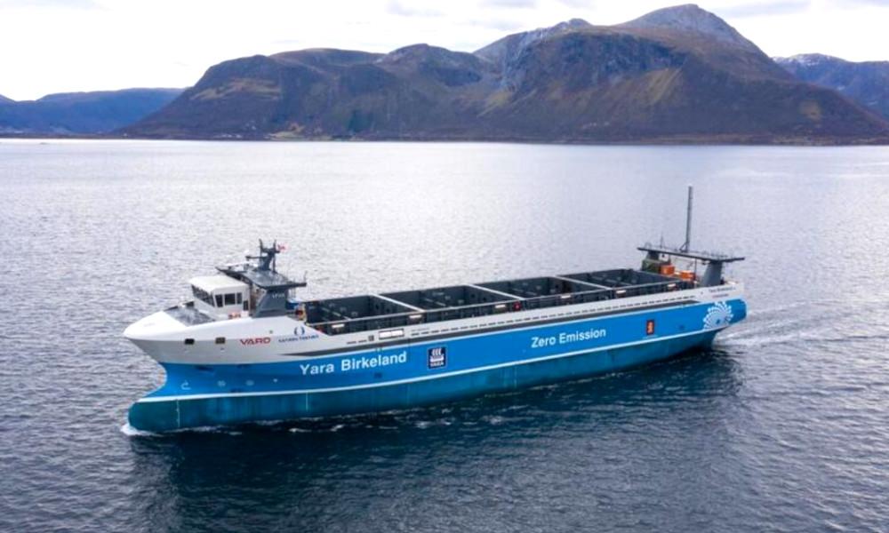 La Norvège lance le premier cargo autonome 100% électrique
