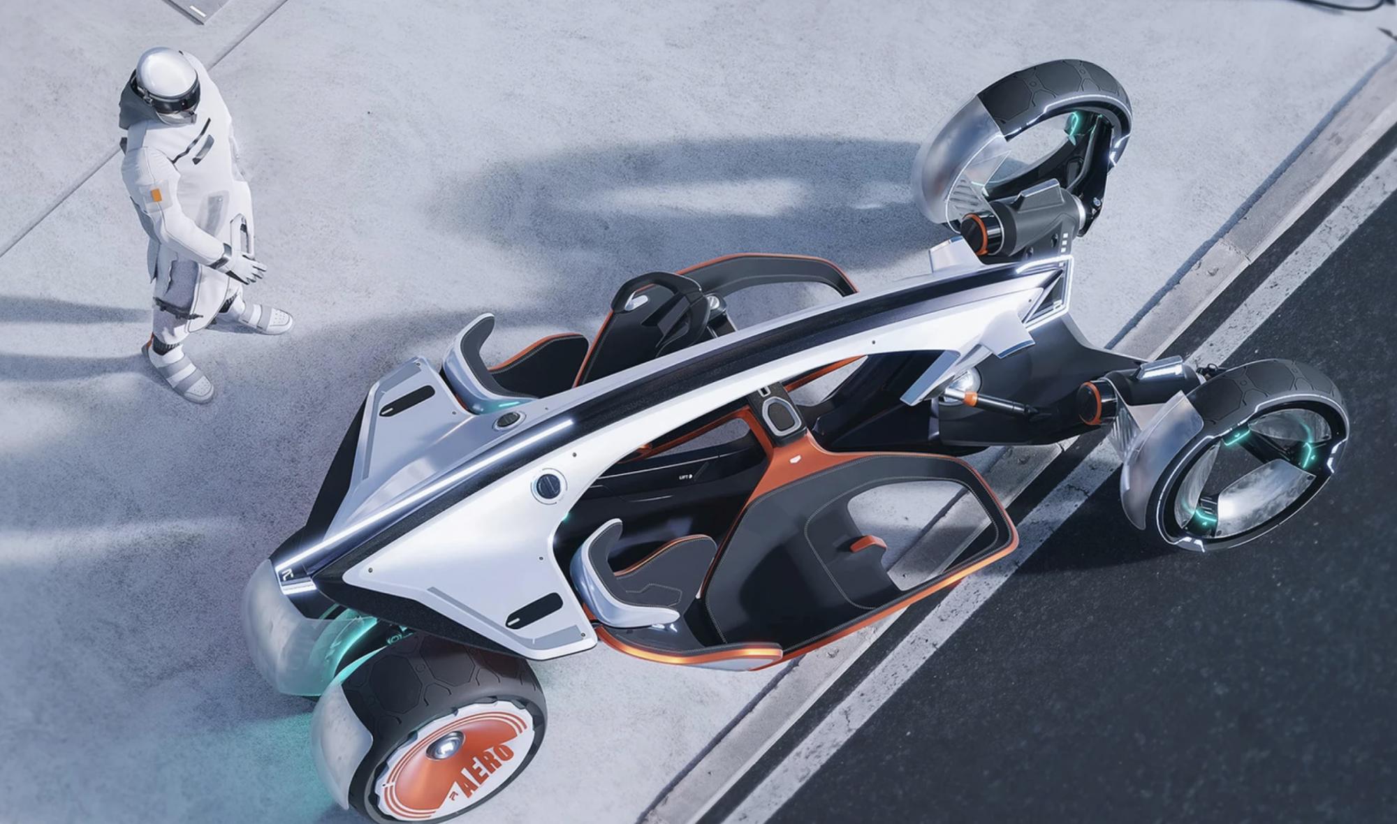 RYZR : une moto-voiture électrique du futur, parce qu'on la démarre avec une... veste
