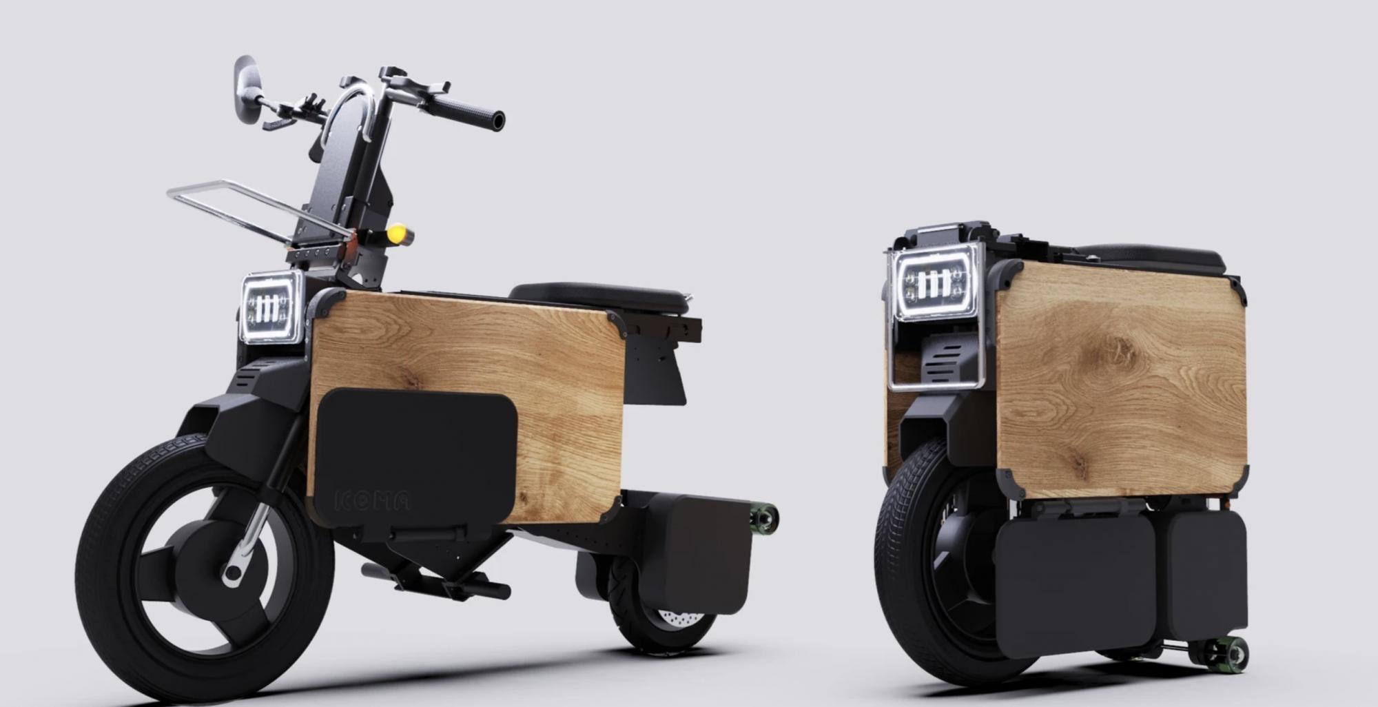 Voici Tatamel, un scooter électrique qui se range sous le bureau