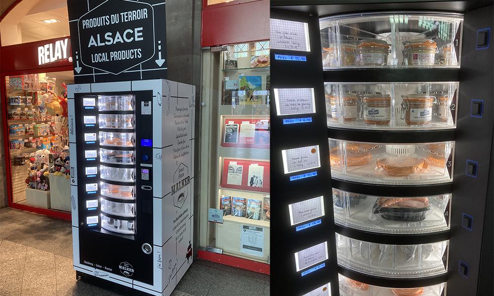 Avant de prendre le train à Strasbourg, passez chercher une choucroute au distributeur